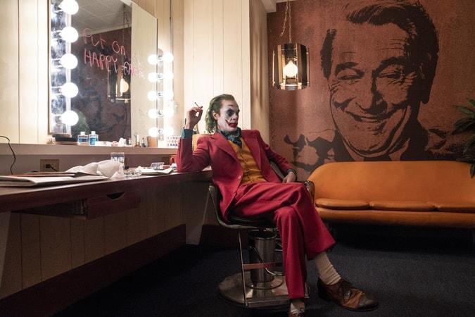 Joker en el camerino.