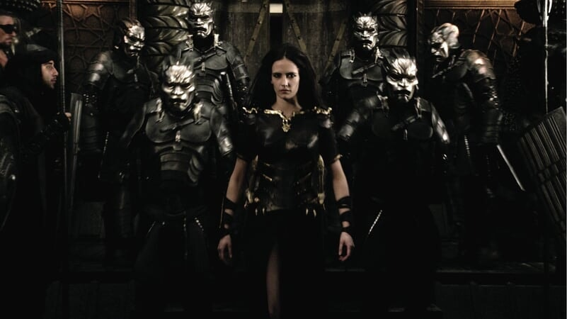 Artemisa marchando con su ejército.