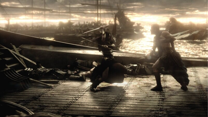 Artemisa y Temistocles Luchando