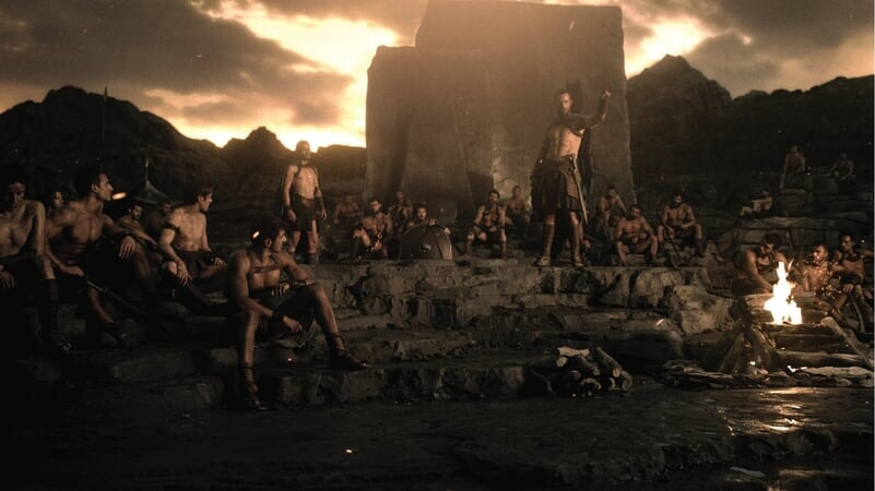 Ejército ateniense descansando.