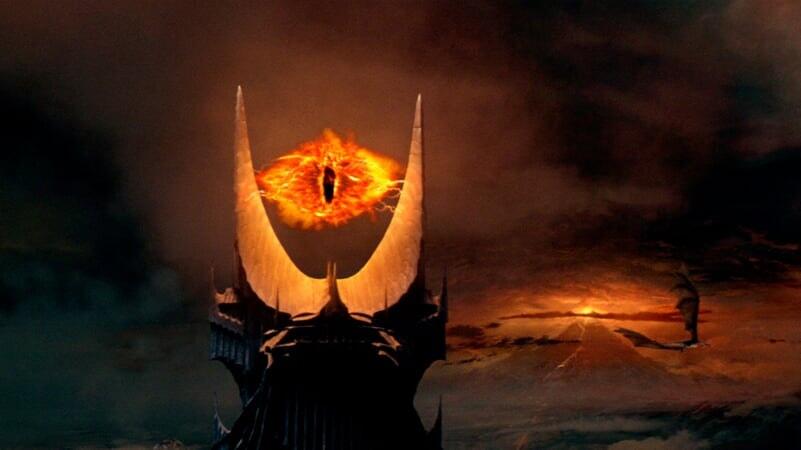 El Ojo de Sauron en El Señor De Los Anillos: Las Dos Torres