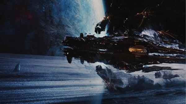 Nave espacial en El Destino de Júpiter