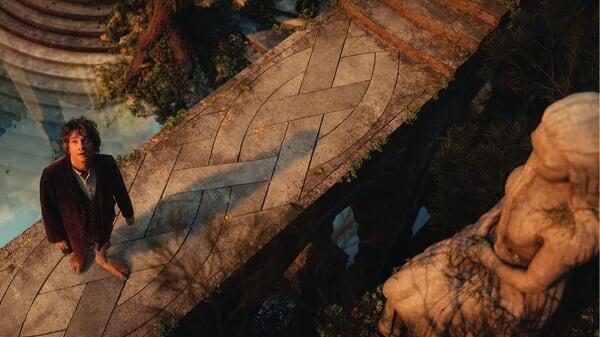 Bilbo Bolsón en Rivendel en El Hobbit: Un Viaje Inesperado