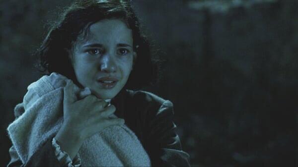Ofelia llorando en El Laberinto Del Fauno