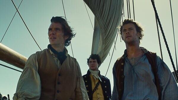 Owen, George y Matthew en En el Corazón del Mar