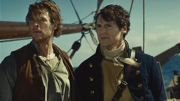 Owen y George en En el Corazón del Mar