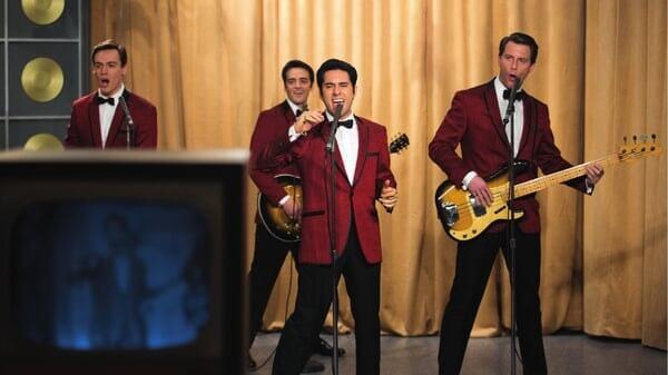 The Four Seasons tocando en Jersey Boys: Persiguiendo La Música