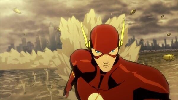 Flash corriendo a través del desierto.