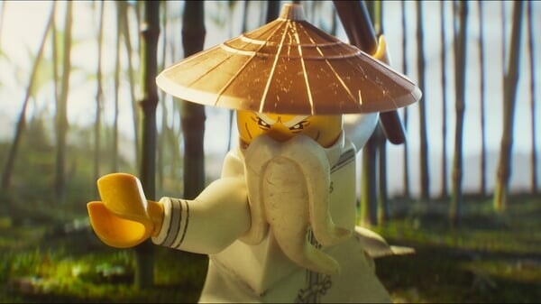 El Maestro Wu en posición de combate en Lego Ninjago La Película