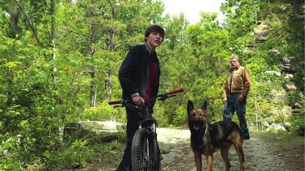 Max y Justin en el parque en Max
