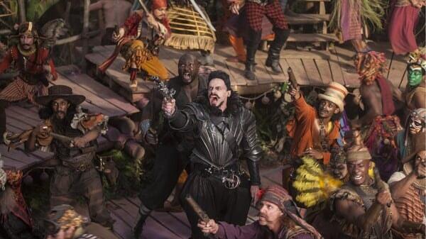 Barbanegra en el barco en Peter Pan