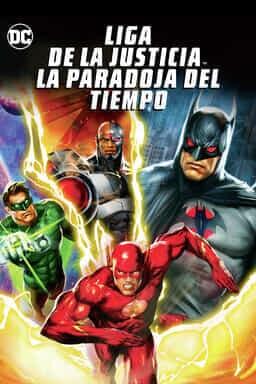 Poster Liga de la Justicia: La paradoja del tiempo.