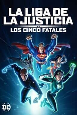KeyArt: La Liga de la Justicia vs los cinco fatales