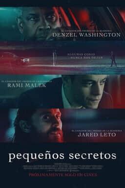 Poster Pelicula con Denzel Washington, Rami Malek y Jared Leto